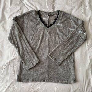Grey And Black Lace Marled Long Sleeve